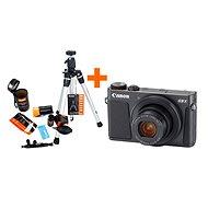 Canon PowerShot G9 X Mark II čierny + Rollei Starter Kit - Digitálny fotoaparát