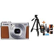 Canon PowerShot G9 X Mark II strieborný + Rollei Foto Starter Kit 2 - Digitálny fotoaparát