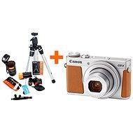 Canon PowerShot G9 X Mark II strieborný + Rollei Starter Kit - Digitálny fotoaparát