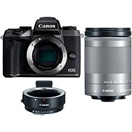 Canon EOS M5 + 18 – 150 mm IS STM strieborný + adaptér EF-EOS M - Digitálny fotoaparát