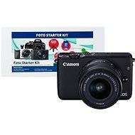 Canon EOS M10 Black + EF-M 15–45 mm f/3,5 – 6,3 IS STM + Alza Foto Starter Kit - Digitálny fotoaparát