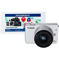 Canon EOS M10 White + EF-M 15–45 mm f/3,5 – 6,3 IS STM + Alza Foto Starter Kit