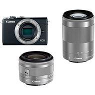 Canon EOS M100 sivý + M15-45mm strieborný + M55-200mm strieborný - Digitálny fotoaparát