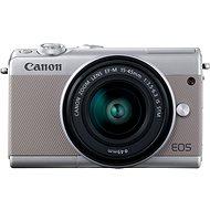 Canon EOS M100 sivý + M15-45mm strieborný - Digitálny fotoaparát
