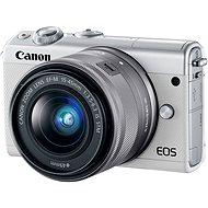 Canon EOS M100 biely + M15–45 mm strieborný - Digitálny fotoaparát
