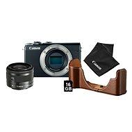 Canon EOS M100 čierny + EF-M 15-45 mm IS STM strieborný Value Up Kit - Digitálny fotoaparát