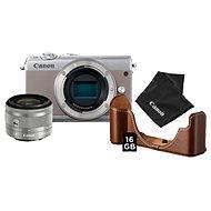 Canon EOS M100 sivý + EF-M 15-45 mm IS STM strieborný Value Up Kit - Digitálny fotoaparát