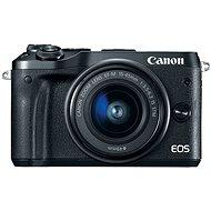 Canon EOS M6 čierny + EF-M 15–45 mm + 55–200 mm - Digitálny fotoaparát