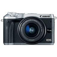 Canon EOS M6 strieborný + EF-M 15–45 mm + 55–200 mm - Digitálny fotoaparát