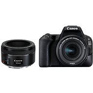 Canon EOS 200D čierny + 18-55 mm IS STM + 50 mm f/1,8 STM - Digitálny fotoaparát