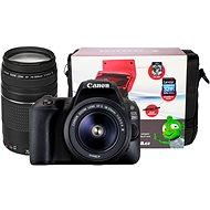 Canon EOS 200D čierny + 18–55 mm DC III + 75–300 mm DC III + Canon Starter Kit - Digitálny fotoaparát