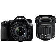 Canon EOS 80D + EF-S 18–135 mm IS USM + 10–18 mm IS STM - Digitálny fotoaparát