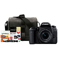 Canon EOS 77D čierny + 18–55 mm IS STM + Canon Starter Kit
