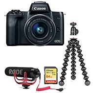 Canon EOS M50 čierny + EF-M 15-45 mm IS STM Vlogger Kit