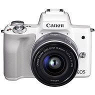 Canon EOS M50 biely + EF-M 15–45 mm IS STM