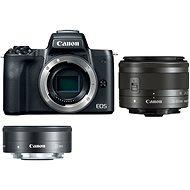 Canon EOS M50 čierny + EF-M 15–45 mm IS STM + EF-M 22 mm - Digitálny fotoaparát
