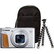 Canon PowerShot SX740 HS strieborný Travel kit - Digitálny fotoaparát