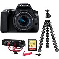 Canon EOS 250D čierny + 18–55 mm IS STM Vlogger Kit