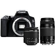 Canon EOS 250D čierny + 18–55 mm DC III + 75–300 mm DC III