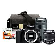 Canon EOS 250D čierny + 18–55 mm DC III + 75–300 mm DC III + Canon Starter Kit 58mm – 32GB