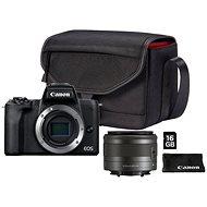 Canon EOS M50 Mark II čierny + EF-M 15-45 mm IS STM Value Up Kit - Digitálny fotoaparát