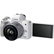 Canon EOS M50 Mark II biely + EF-M 15 – 45 mm IS STM - Digitálny fotoaparát