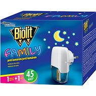 BIOLIT Family elektrický odparovač s tekutou náplňou 45 nocí 1 + 27 ml - Odpudzovač hmyzu