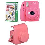 Fujifilm Instax Mini 9 ružový + 10× fotopapier + puzdro - Instantný fotoaparát