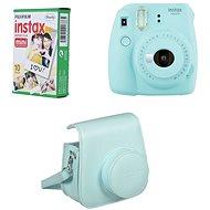 Fujifilm Instax Mini 9 svetlo modrý + 10× fotopapier + puzdro - Instantný fotoaparát