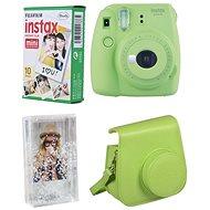 Fujifilm Instax Mini 9 limetkový + 10× fotopapier + puzdro - Instantný fotoaparát