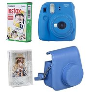 Fujifilm Instax Mini 9 tmavo modrý + 10× fotopapier + puzdro - Instantný fotoaparát