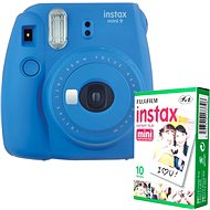 Fujifilm Instax Mini 9 tmavo modrý + 10× fotopapier - Instantný fotoaparát