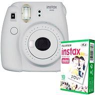 Fujifilm Instax Mini 9 biely + 10× fotopapier - Instantný fotoaparát