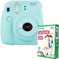 Fujifilm Instax Mini 9 svetlo modrý + 10× fotopapier - Instantný fotoaparát