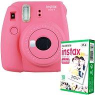 Fujifilm Instax Mini 9 ružový + 10× fotopapier - Instantný fotoaparát