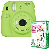 Fujifilm Instax Mini 9 limetkový + 10× fotopapier - Instantný fotoaparát