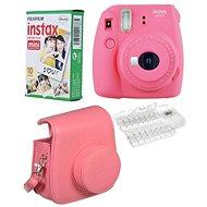 Fujifilm Instax Mini 9 ružový LED bundle - Instantný fotoaparát