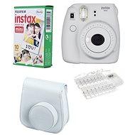 Fujifilm Instax Mini 9 popolavo biely LED bundle - Instantný fotoaparát