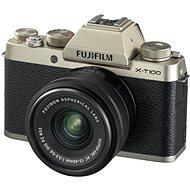 Fujifilm X-T100 zlatý + XC 15–45 mm f/3,5–5,6 OIS PZ - Digitálny fotoaparát