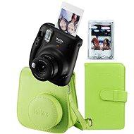Fujifilm Instax Mini 11 čierny + limetková sada príslušenstva + 10× fotopapier - Instantný fotoaparát