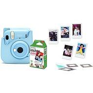 Fujifilm Instax Mini 11 modrý + puzdro + 10× fotopapier + sada príslušenstva - Instantný fotoaparát