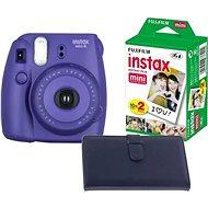 Fujifilm Instax mini 8 Grape medium kit Laporta - Instantný fotoaparát