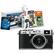 FUJIFILM FinePix X100F strieborný + Fujifilm Foto Starter Kit - Digitálny fotoaparát