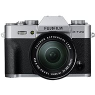Fujifilm X T20 strieborný + XC16–50 mm f/3,5–5,6 OIS II - Digitálny fotoaparát