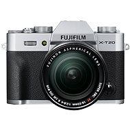 Fujifilm X T20 strieborný + XF 18–55 mm  f/2,8–4 R LM OIS - Digitálny fotoaparát
