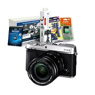 Fujifilm X-E3 strieborný + XF 18–55 mm + Fujifilm Foto Starter Kit