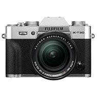 Fujifilm X-T30 strieborný + XF 18 – 55 mm - Digitálny fotoaparát