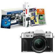 Fujifilm X-T30 strieborný + XF 18–55 mm + Fujifilm Foto Starter Kit
