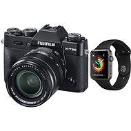 Fujifilm X-T30 čierny + XF 18–55 mm + Apple Watch Series 3 38 mm GPS Vesmírne sivý hliník - Digitálny fotoaparát