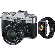 Fujifilm X-T30 stříbrný + XF 18-55mm + Apple Watch Series 3 38mm GPS Vesmírně šedý hliník s černým s - Digitálny fotoaparát